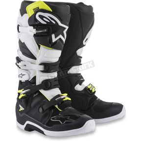 Alpinestars Black/White Tech 7 Boots  - 2012014-12-9