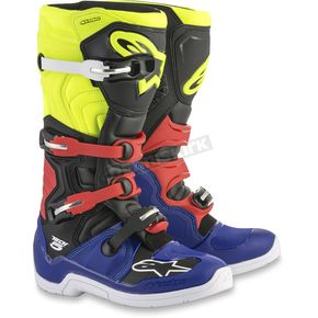 Alpinestars Black/Yellow/Fluorescent Red Tech 5 Boots - 2015015-7153-6