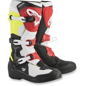 Alpinestars Black/White/Fluo.Yellow/Red Tech 3 Boots - 2013018-1053-5