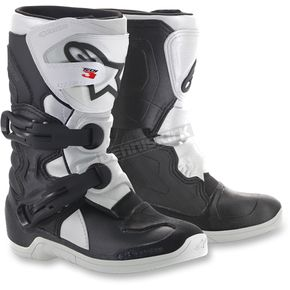 Alpinestars Kids Black/White Tech 3S Boots - 2014518-12-1