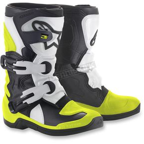 Alpinestars Kids Black/White/Yellow Tech 3S Boots - 2014518-125-10