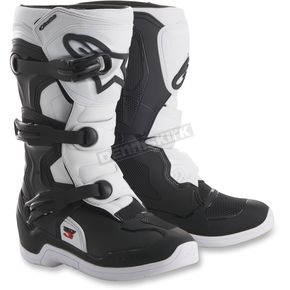 Alpinestars Youth Black/White Tech 3S Boots - 2014018-12-4