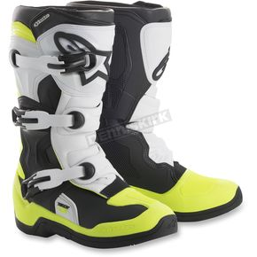 Alpinestars Youth Black/White/Yellow Tech 3S Boots - 2014018-125-4