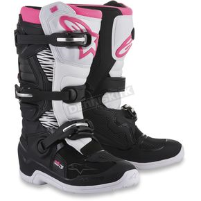 Alpinestars Stella Womens Black/White/Pink Tech 3 Boots - 2013218-130-7