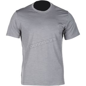 Klim Gray Teton Merino Wool Base Layer T-Shirt - 3711-000-150-600