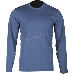 Klim Blue Merino Wool Base Layer Long Sleeve Shirt - 3712-000-140-200