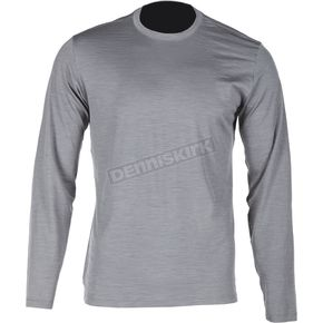 Klim Gray Teton Merino Wool Base Layer Long Sleeve Shirt - 3712-000-160-600