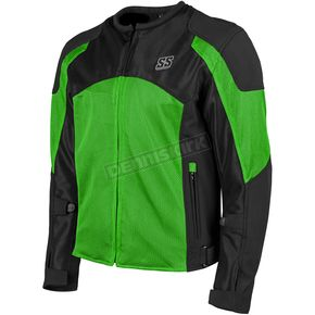 Speed and Strength Green/Black Midnight Express Mesh Jacket - 1101-0201-1352