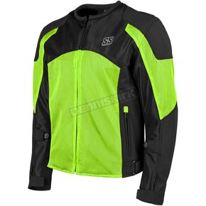 Speed and Strength Hi-Vis Green/Black Midnight Express Mesh Jacket - 1101-0201-4858
