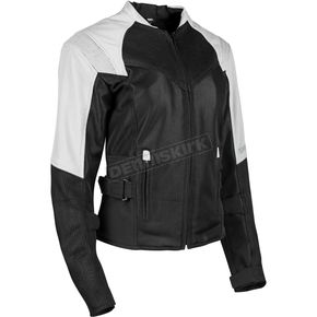 Speed and Strength Women's White/Black Sinfully Sweet Mesh Jacket - 1101-1202-2253