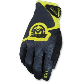 Moose Youth Black/Hi-Viz SX1 Gloves  - 3332-1186