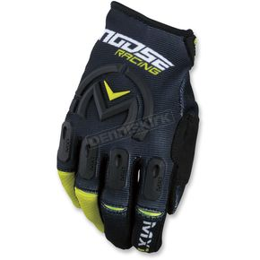 Moose Black/Hi-Viz MX1 Gloves  - 3330-4479