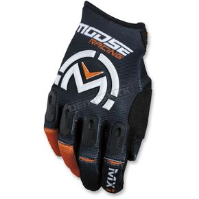 Moose Black/Orange MX1 Gloves  - 3330-4496