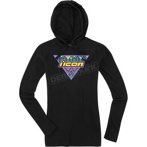 Icon Women's Black Georacer Thermal Hoody - 3051-0976