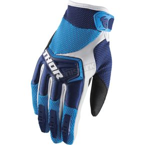 Thor Navy/Blue/White Spectrum Gloves - 3330-4654