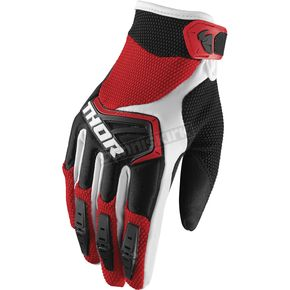 Thor Red/Black/White Spectrum Gloves - 3330-4656