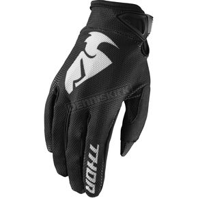 Thor Black Sector Gloves - 3330-4713