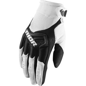 Thor Youth White/Black Spectrum Gloves - 3332-1222