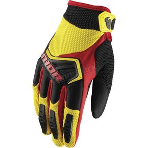 Thor Youth Yellow/Black/Red Spectrum Gloves - 3332-1230
