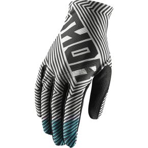 Thor Youth Black/Teal Void Geotech Gloves - 3332-1232