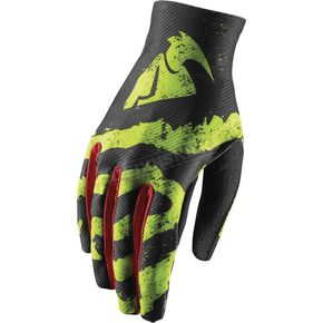 Thor Youth Lime/Red Void Rampant Gloves - 3332-1242