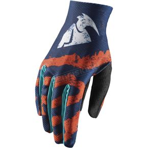 Thor Youth Orange/Teal Void Rampant Gloves - 3332-1248