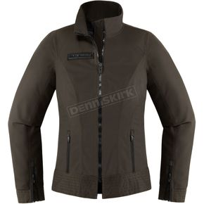 Icon 1000 Women's Espresso Fairlady Textile Jacket - 2822-0941