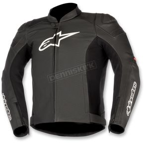 Alpinestars Black/Red SP-1 Airflow Leather Jacket - 3100717-13-56