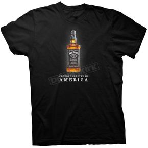 Jack Daniels Black Full Color Bottle T-Shirt - 15261492JD-89-M