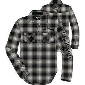 Jack Daniels Gray Woven Snap-Front Long Sleeve Shirt - 15203983JD-89-L