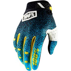 Cyan/Black Ridefit Gloves