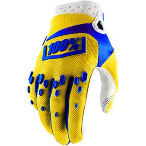100% Yellow Airmatic Gloves - 10004-004-14