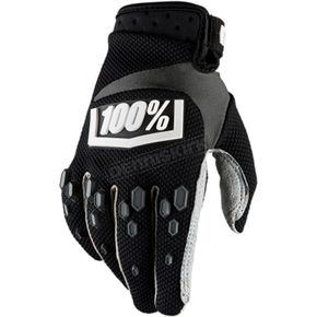 100% Youth Black  Airmatic Gloves  - 10004-061-05