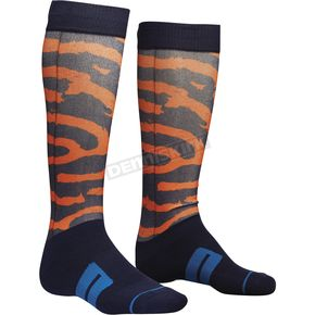 Thor Navy/Orange/Lime Moto Sub Rampant Socks - 3431-0392