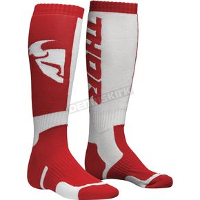 Thor Youth Red/White MX Socks  - 3431-0385