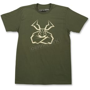 Moose Olive Green Agroid T-Shirt - 3030-15898