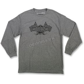 Moose Gray Podium Long-Sleeve T-Shirt - 3030-15923