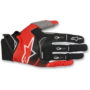 Alpinestars Black/Red Techstar Gloves - 3561018-13-XL