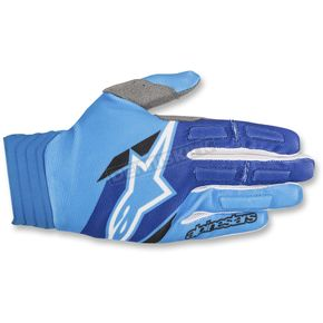 Alpinestars Blue/Aqua Aviator Gloves - 3560318-7111-SM