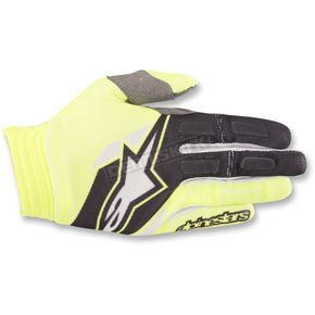 Alpinestars Yellow/Black Aviator Gloves - 3560318-551-MD