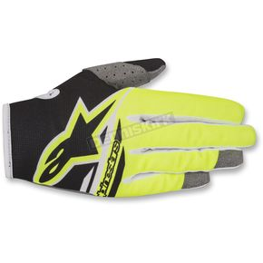 Alpinestars Black/Fl. Yellow Radar Flight Gloves - 3561818-155-XL