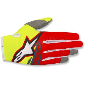 Alpinestars Fl. Yellow/Red/Anthracite Radar Flight Gloves - 3561818-539-MD