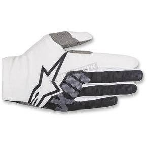Alpinestars White/Black Dune-2 Gloves - 3562618-21-XL