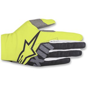 Alpinestars Fluo. Yellow/Black Dune-2 Gloves - 3562618-551-LG