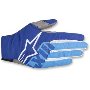 Alpinestars Blue/Aqua Dune-2 Gloves - 3562618-7007-XL