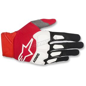 Alpinestars Black/Red/White Racefend Gloves - 3563518-132-SM