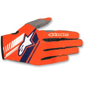 Alpinestars Fluo.Orange/Dark Blue Neo Moto Gloves - 3565518-470-SM