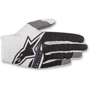 Alpinestars Youth White/Black Radar Flight Gloves  - 3541818-155-2XS