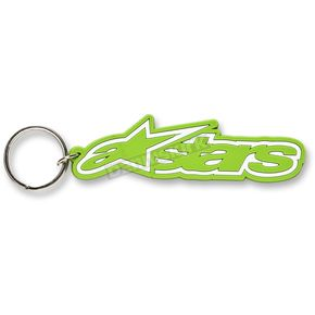 Alpinestars Green Rubber Keychain  - 1012-94001-60