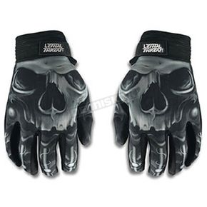 Lethal Threat Mens Skull Gloves - GL15004XL